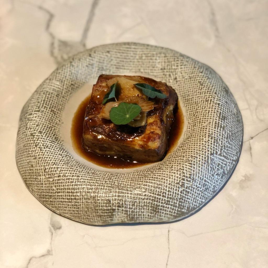 Gratinado de rabo de touro do restaurante Ò Balcão, em Santarém